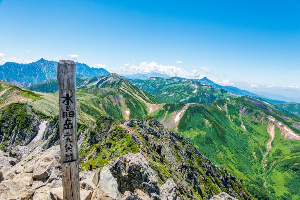 裏銀座・水晶岳(黒岳)山頂