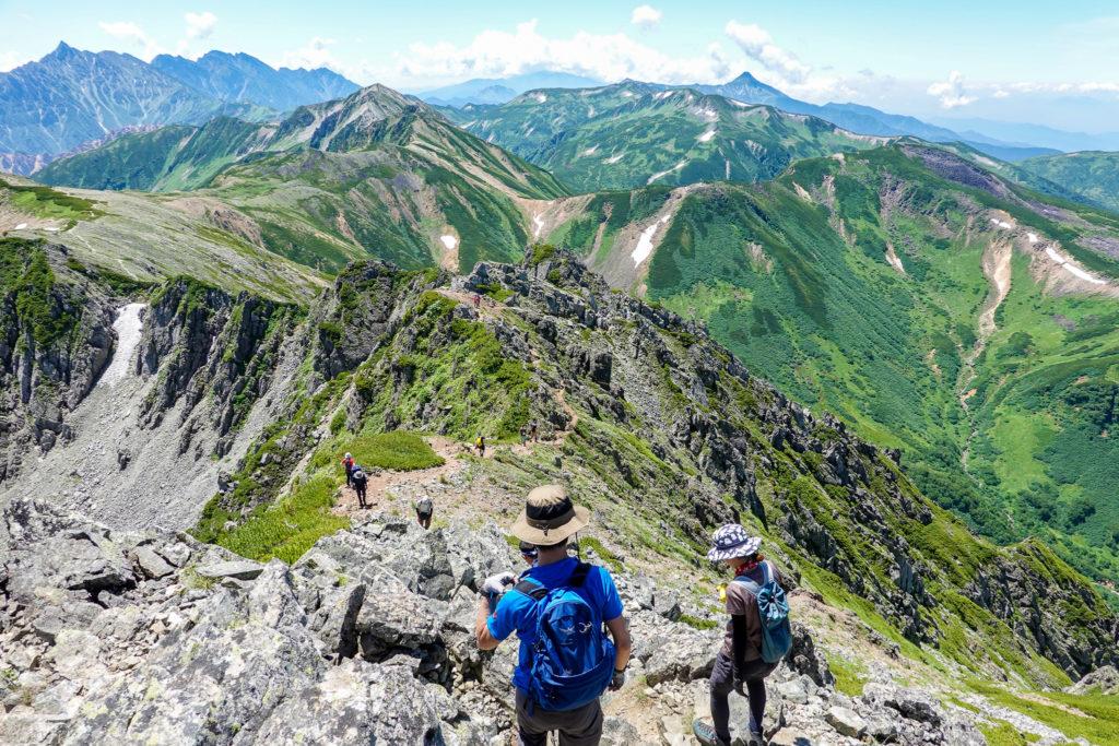裏銀座・水晶岳山頂からの展望