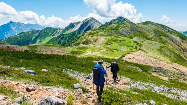 裏銀座・水晶小屋からワリモ岳、鷲羽岳へ