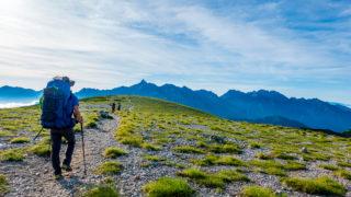 裏銀座・双六岳の稜線