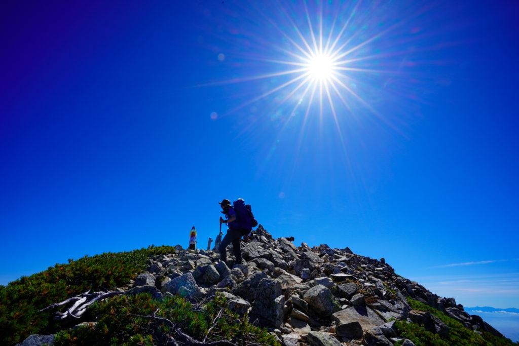 鹿島槍ヶ岳・爺ヶ岳・爺ヶ岳(南峰)山頂へ