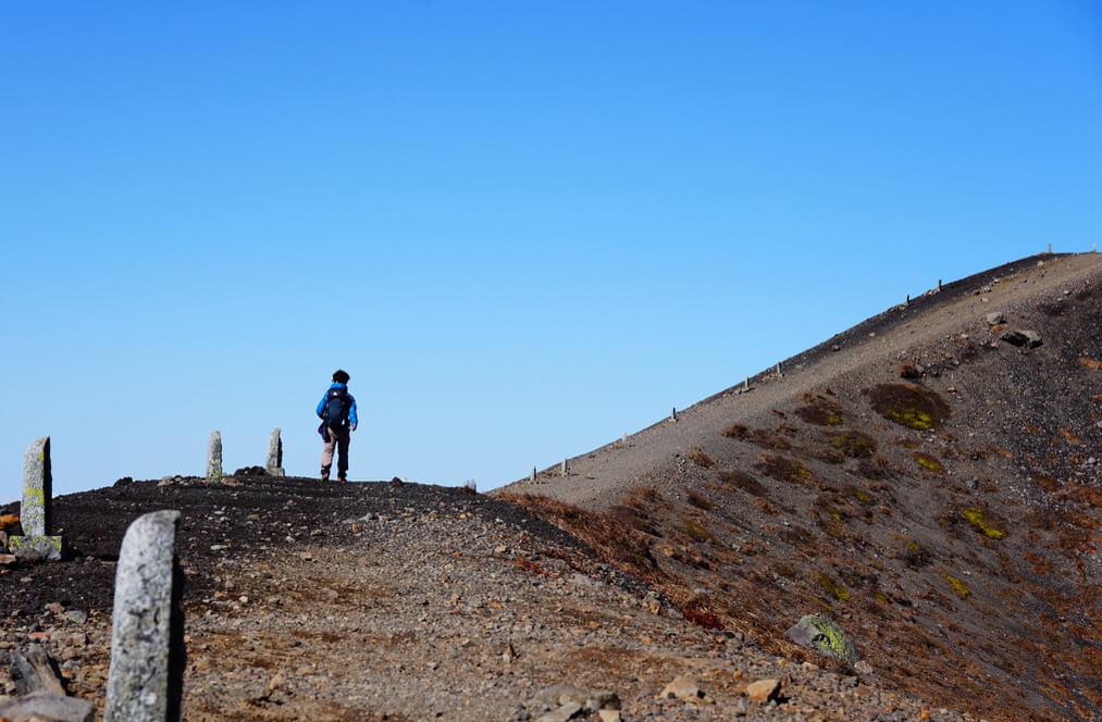 岩手山・山頂までは急登です