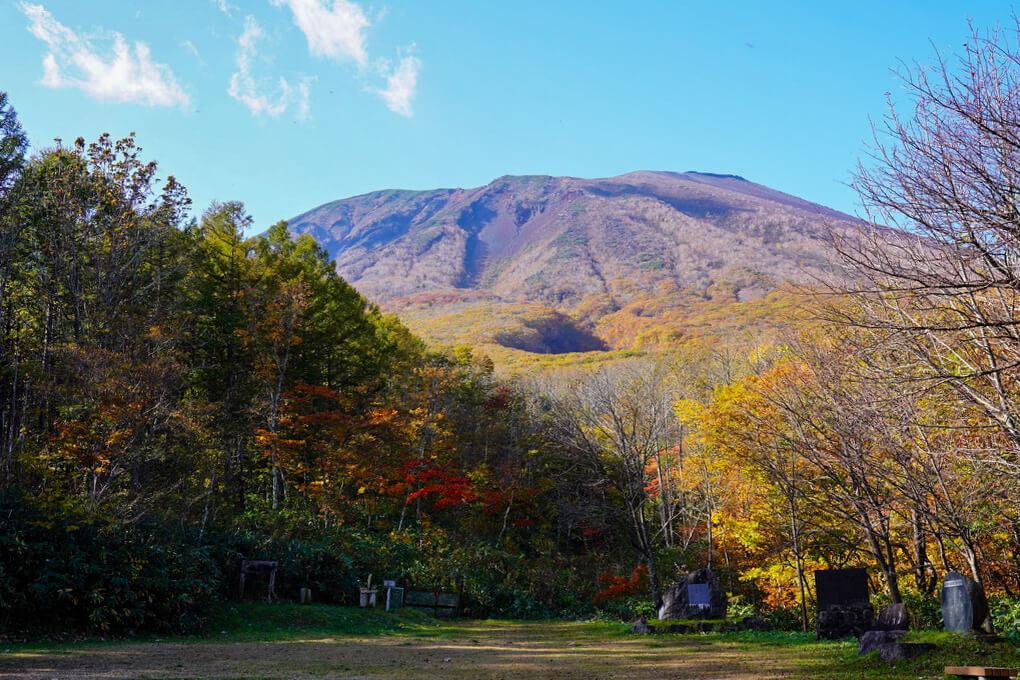 岩手山・馬返しキャンプ場からの岩手山再び