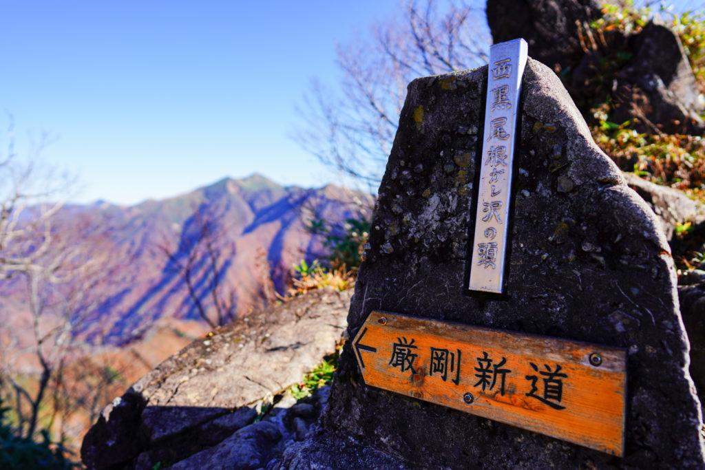 谷川岳・ガレ沢の頭