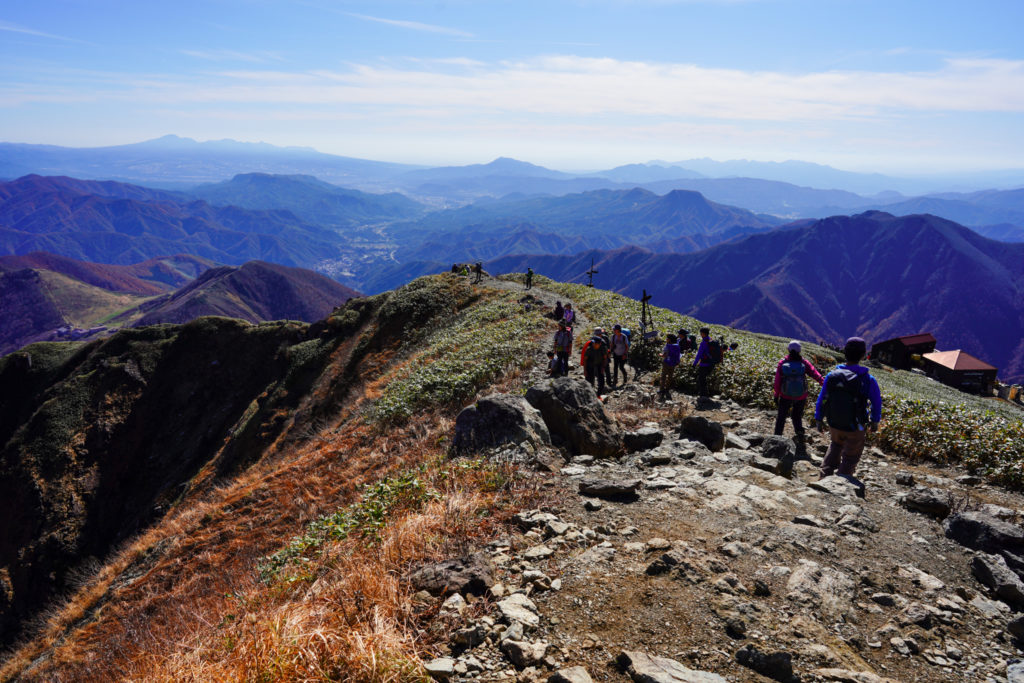 谷川岳・天神平へ下山を開始