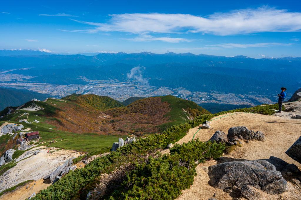 空木岳・空木岳山頂からの空木平カール