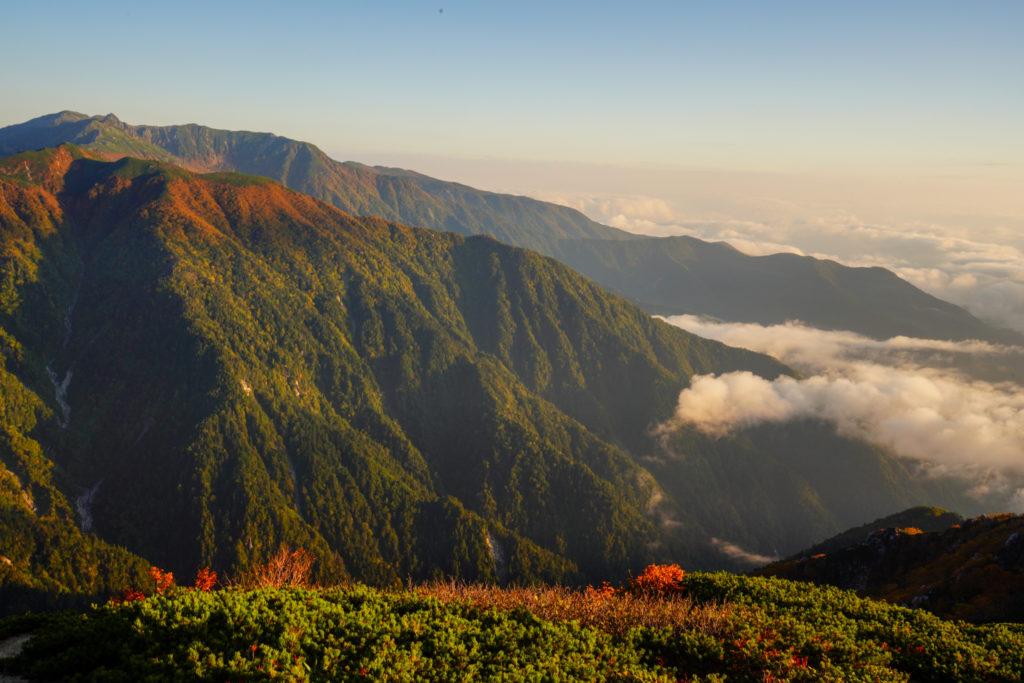 空木岳・雲海と木曽駒ヶ岳