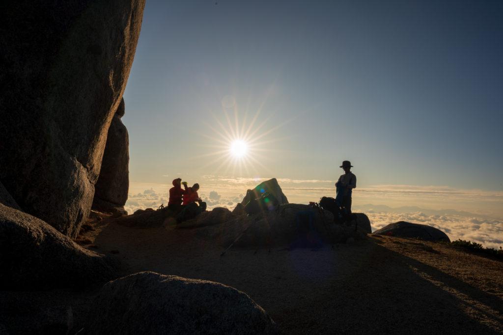 空木岳・巨大な駒石