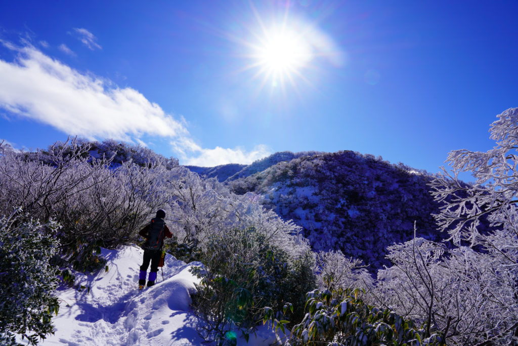 積雪期・荒島岳・いっきに展望ひらけます
