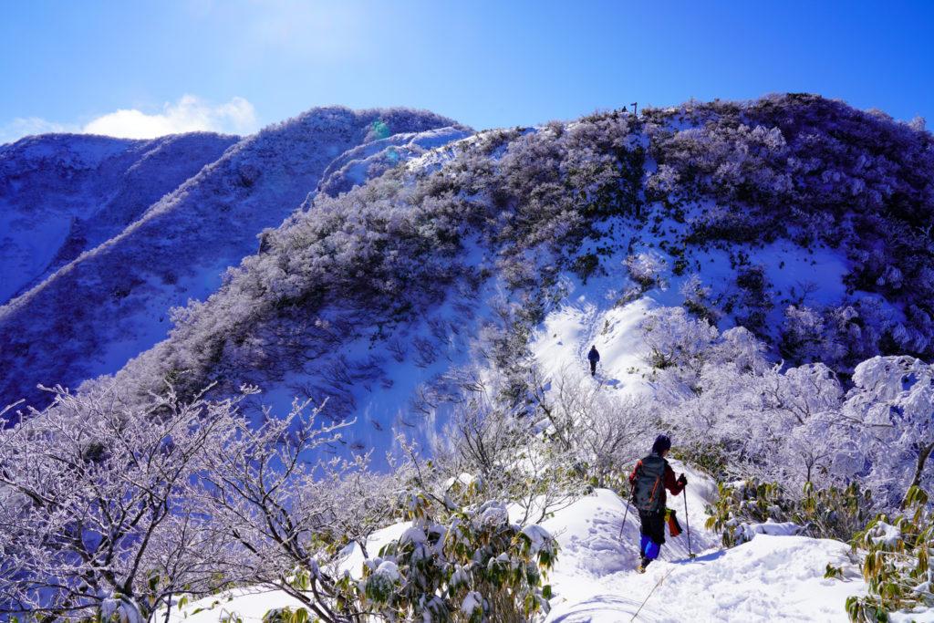 積雪期・荒島岳・2019、今年は雪は少ないみたい