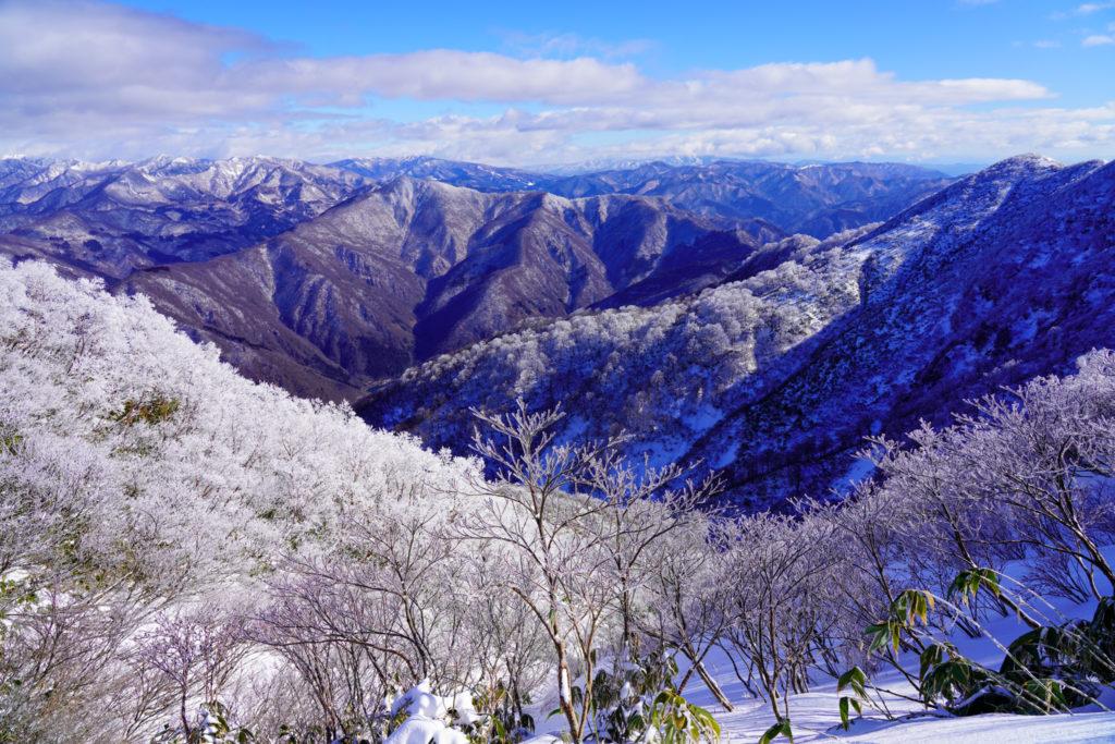 積雪期・荒島岳・新・下山コースの稜線(続き)