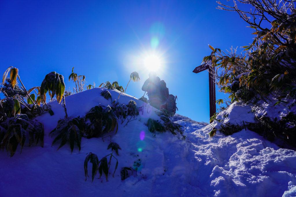 積雪期・荒島岳・中荒島岳
