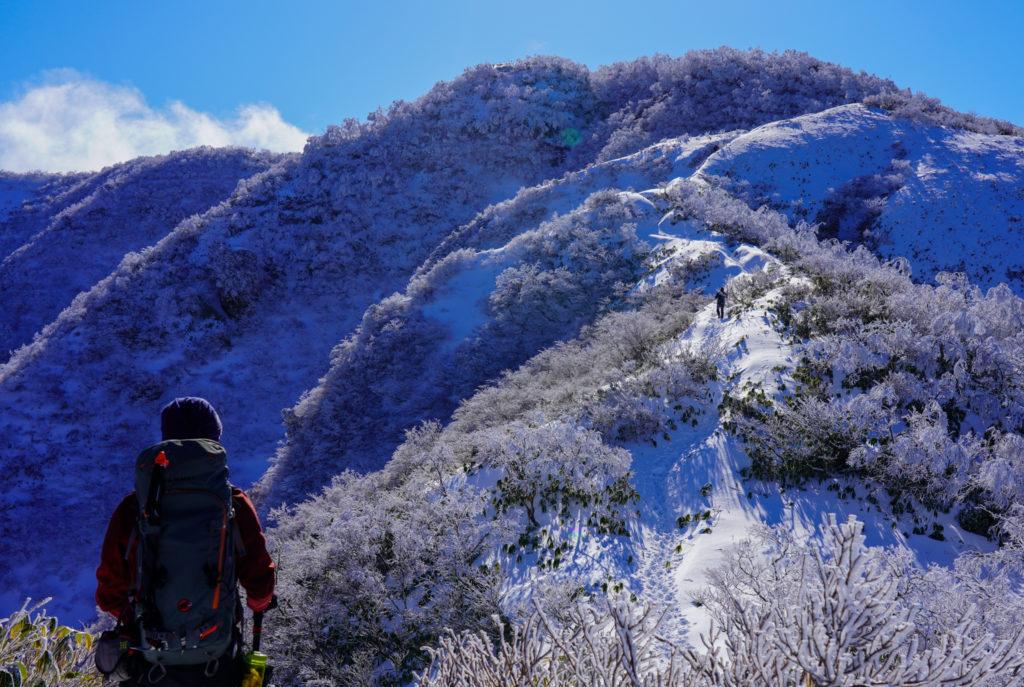 積雪期・荒島岳・もちがかべ