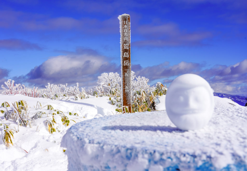 積雪期・荒島岳・雪だるま