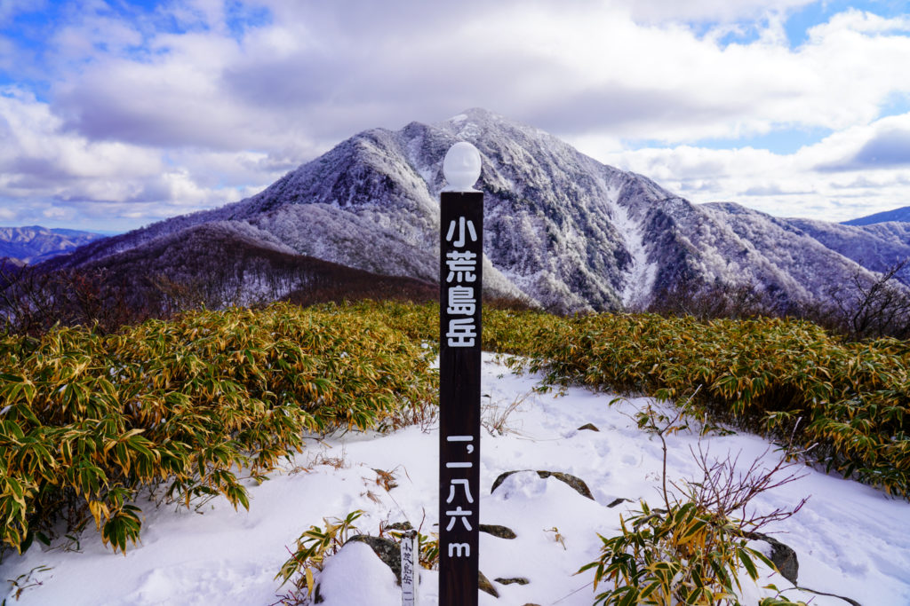 積雪期・荒島岳・小荒島岳山頂