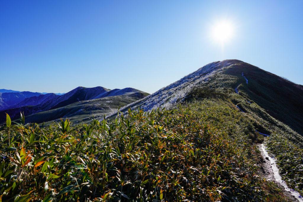 平標山・仙ノ倉山・平標山(右手前)と仙ノ倉山(左奥)