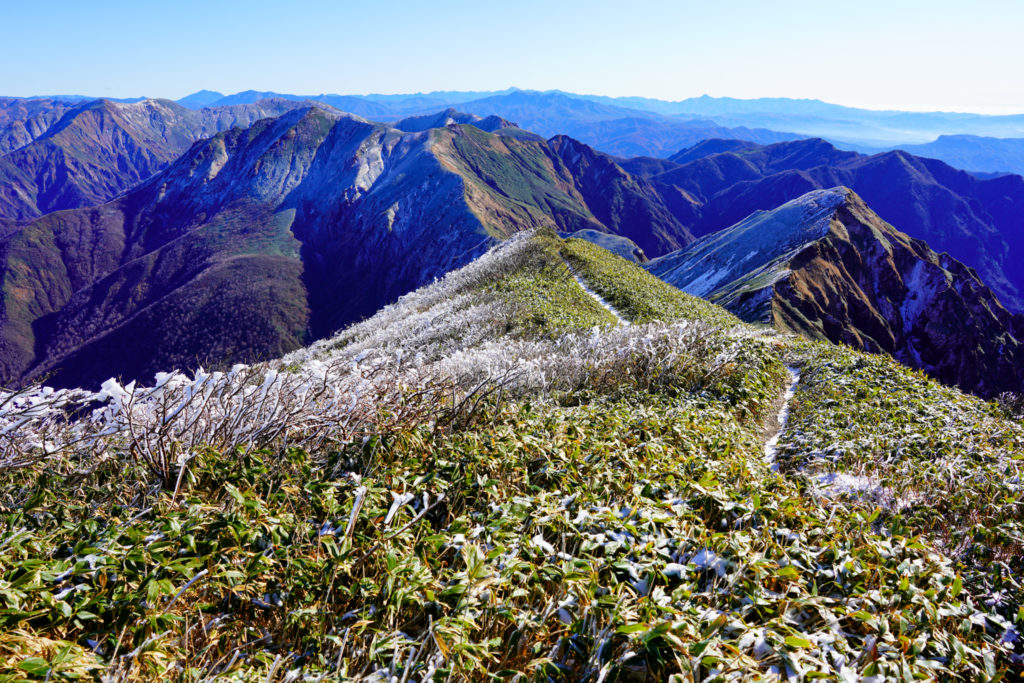 平標山・仙ノ倉山・谷川岳へと続く稜線