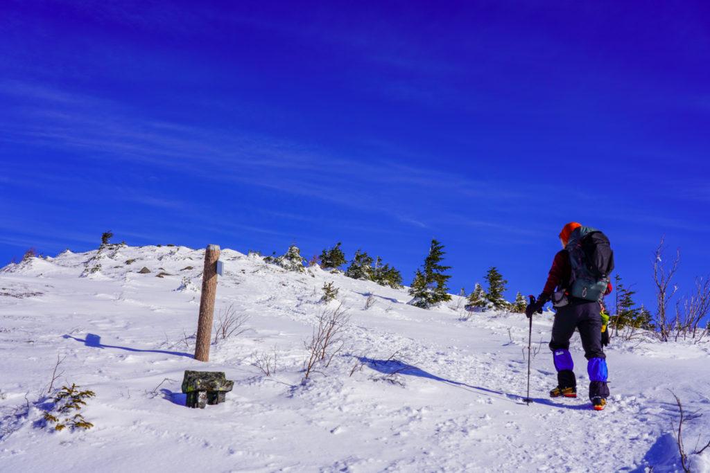 厳冬期・四阿山・まだ山頂ではありません