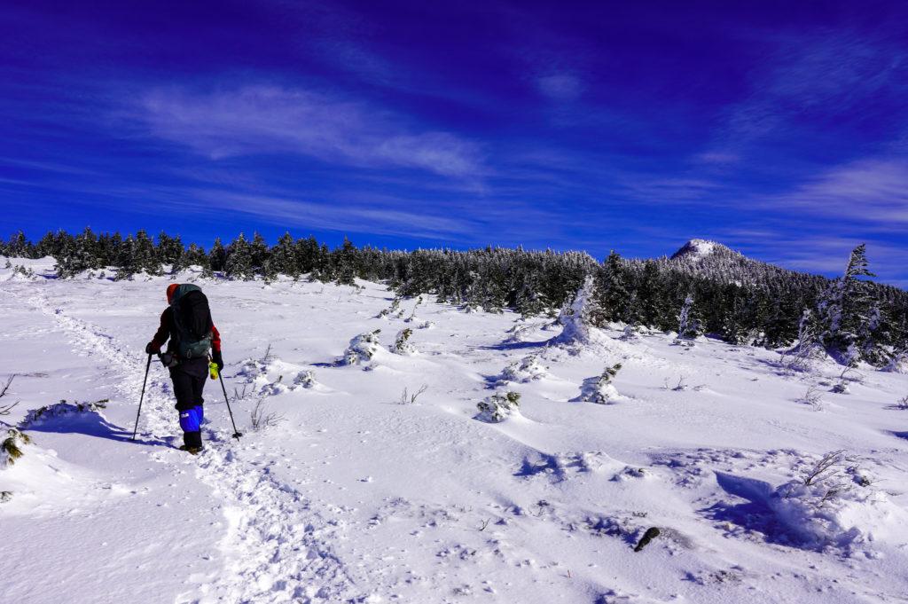 厳冬期・四阿山・四阿山山頂を目指す