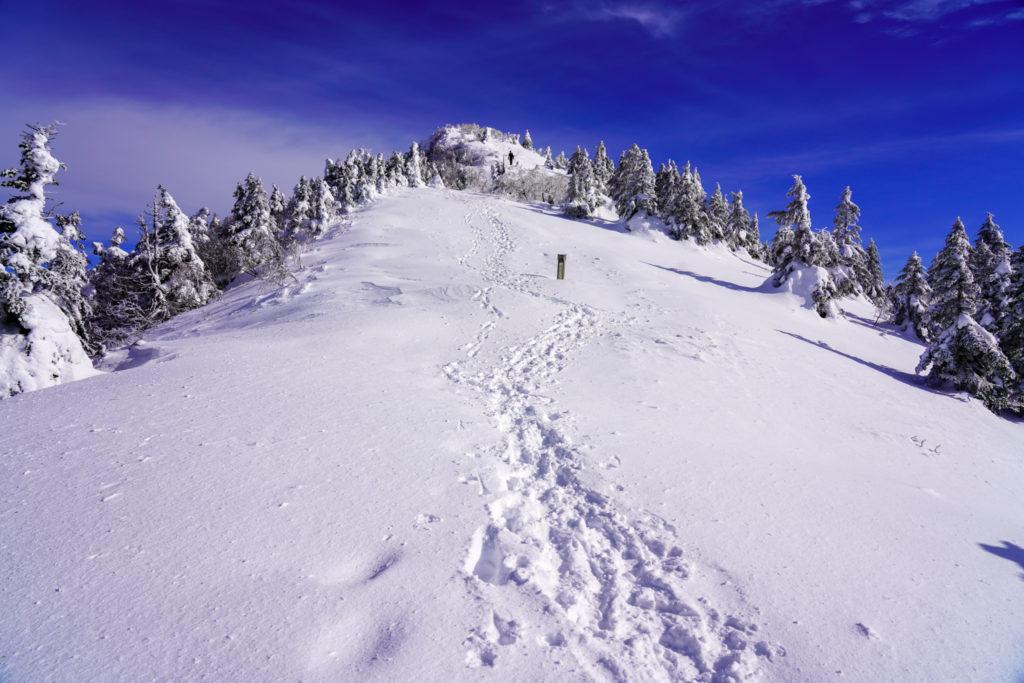 厳冬期・四阿山・山頂へ