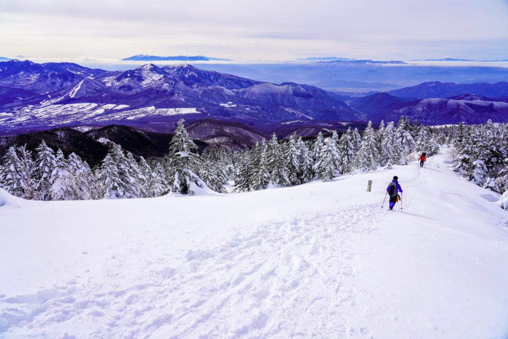 厳冬期・四阿山・下山を開始・その2
