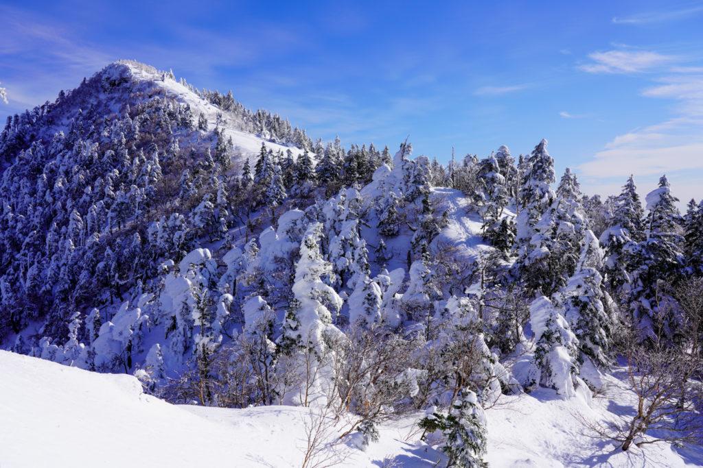 厳冬期・四阿山・雪の四阿山