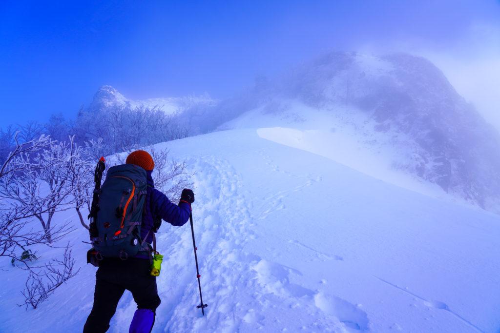 厳冬期・武尊山・剣ヶ峰山・まずは剣ヶ峰山目指します