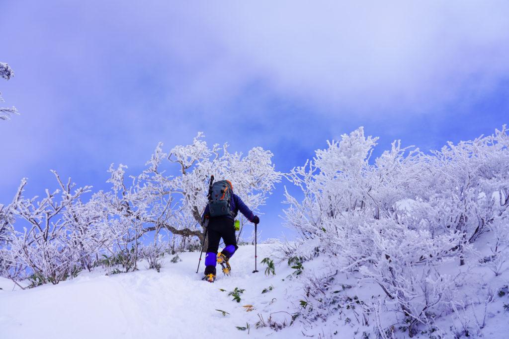 厳冬期・武尊山・剣ヶ峰山・霧氷を越えて