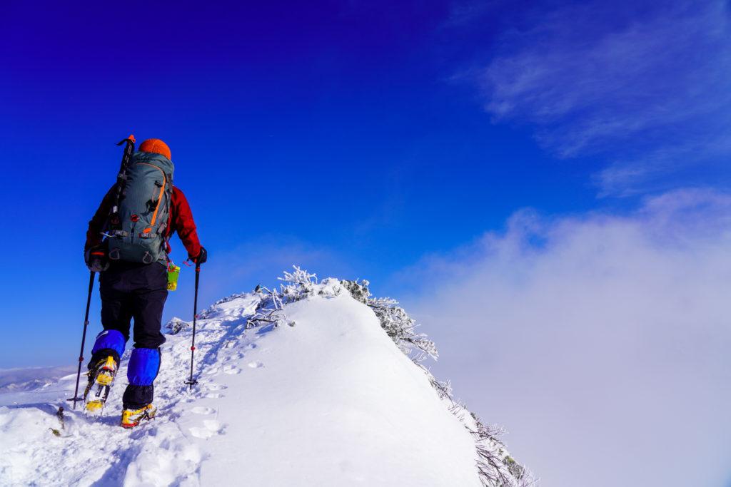 厳冬期・武尊山・剣ヶ峰山・2020mの稜線