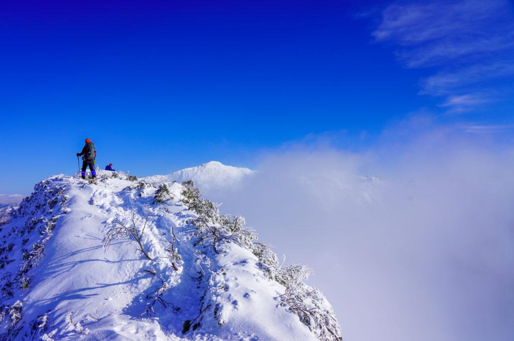 厳冬期・武尊山・剣ヶ峰山・2020mの風景