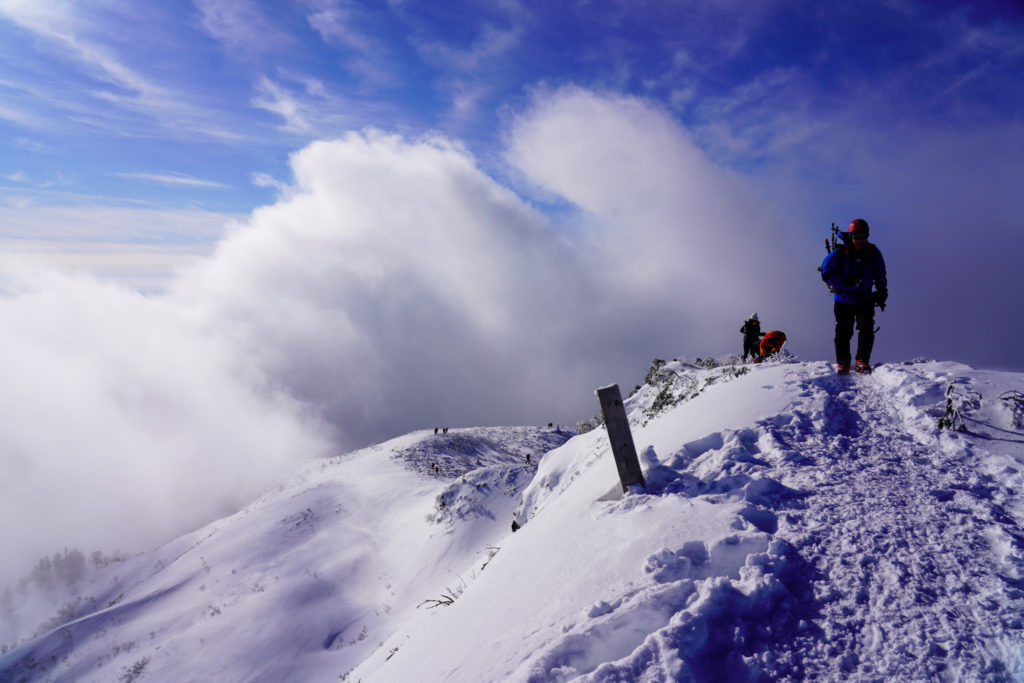 厳冬期・武尊山・剣ヶ峰山・剣ヶ峰山山頂
