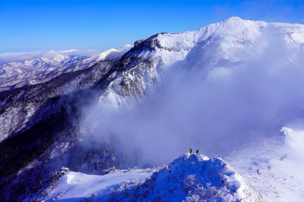 厳冬期・武尊山・剣ヶ峰山・剣ヶ峰山からの武尊山