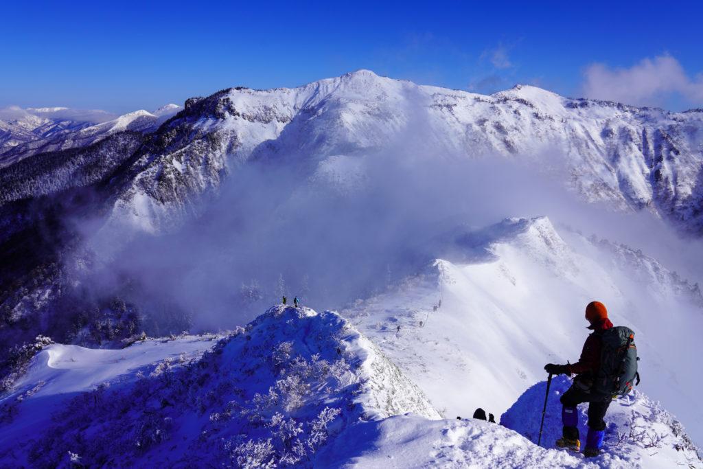厳冬期・武尊山・剣ヶ峰山・剣ヶ峰山から武尊山へ
