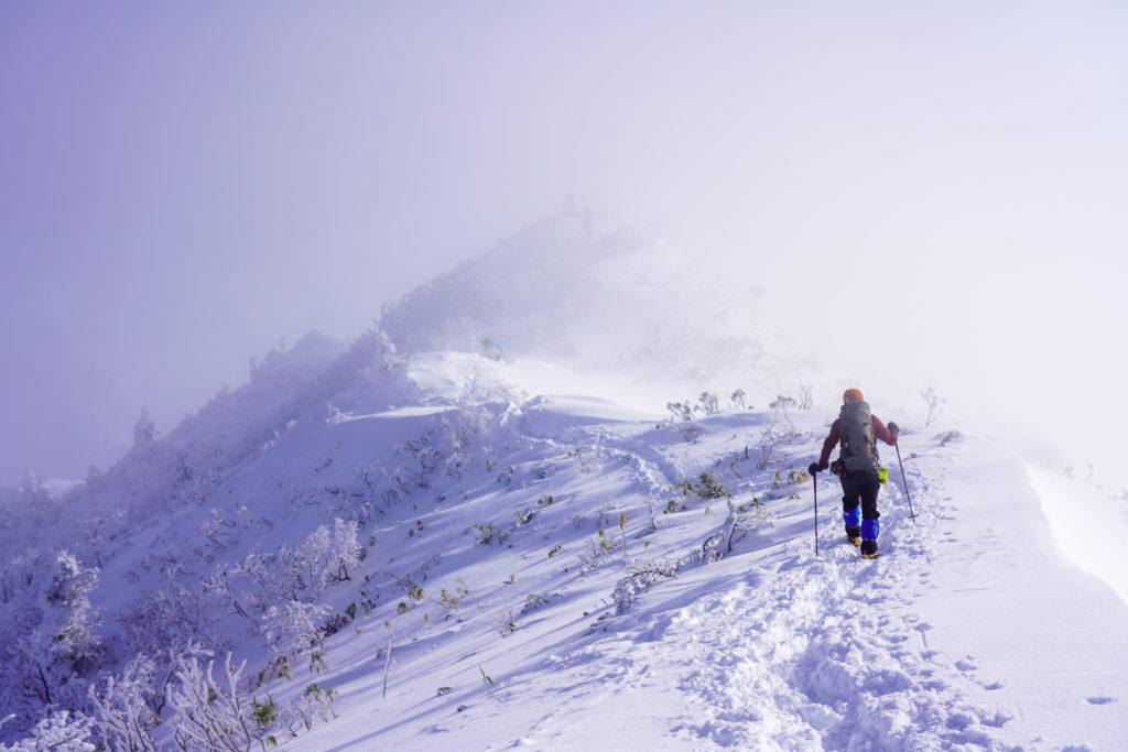厳冬期・武尊山・剣ヶ峰山・アップダウンが続きます