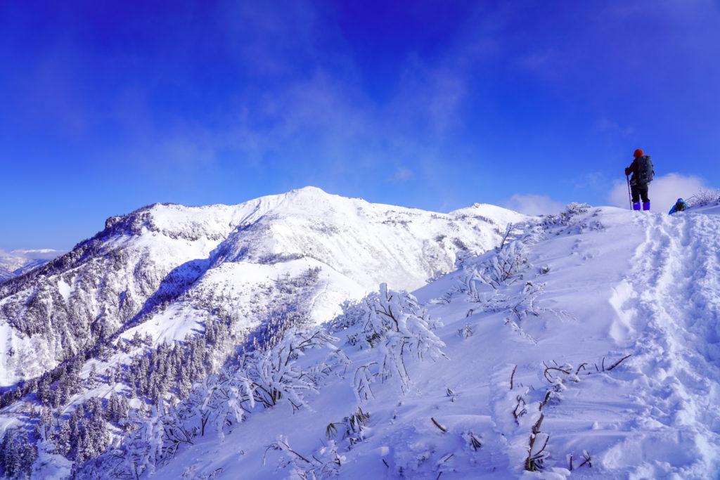 厳冬期・武尊山・剣ヶ峰山・武尊山へ2