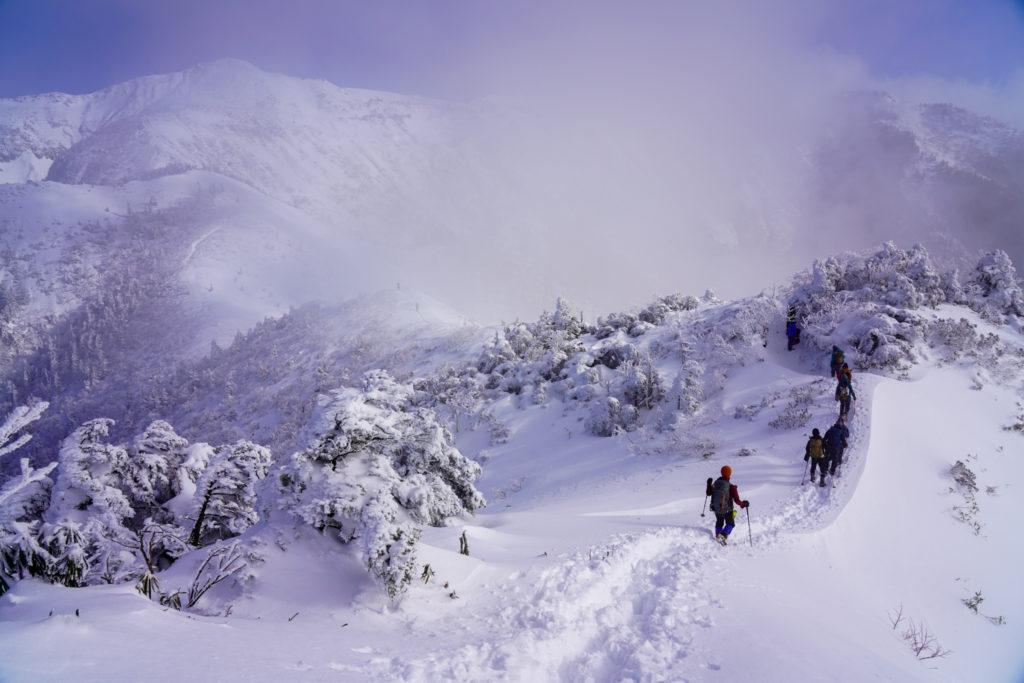 厳冬期・武尊山・剣ヶ峰山・引き続き武尊山へと向かう