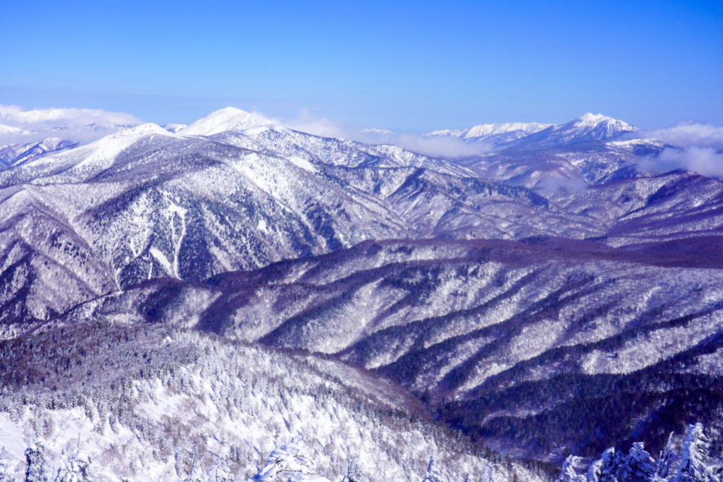 厳冬期・武尊山・剣ヶ峰山・武尊山からの展望