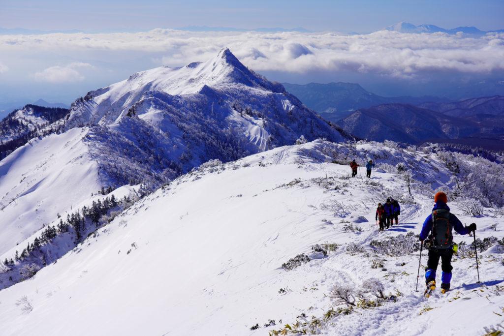 厳冬期・武尊山・剣ヶ峰山・何度も似たような写真を撮る