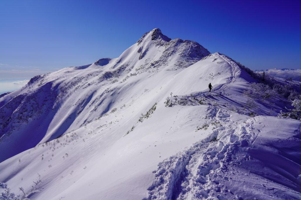 厳冬期・武尊山・剣ヶ峰山・鳳凰のような剣ヶ峰山