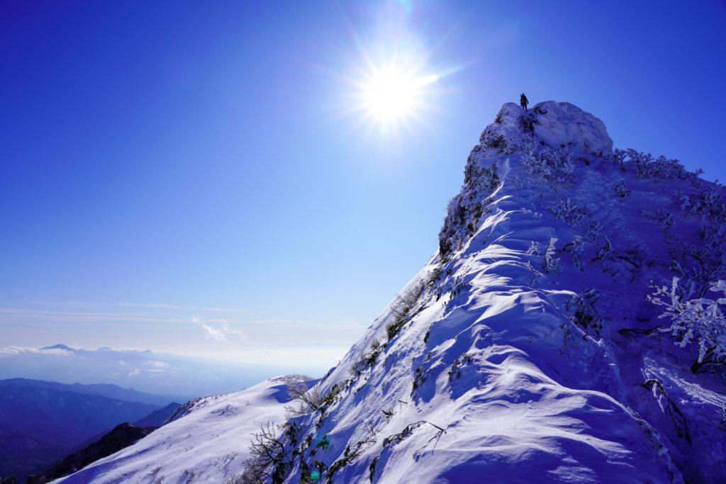 厳冬期・武尊山・剣ヶ峰山・2020m剣ヶ峰山