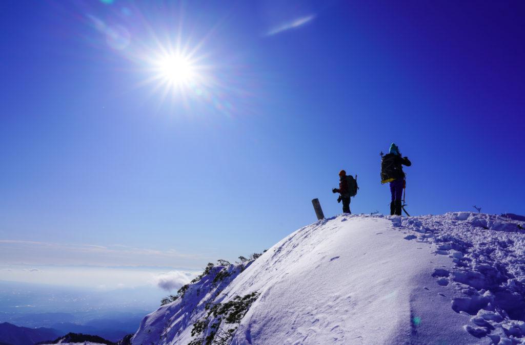 厳冬期・武尊山・剣ヶ峰山・再びの2020mの頂
