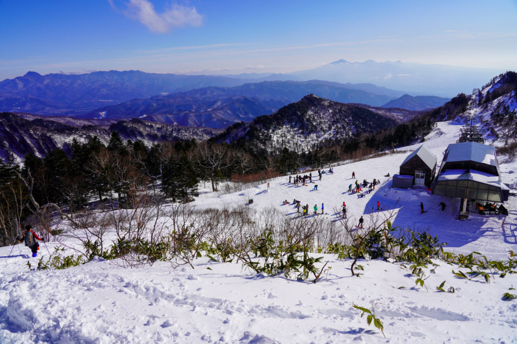 厳冬期・武尊山・剣ヶ峰山・川場スキー場へ下山完了