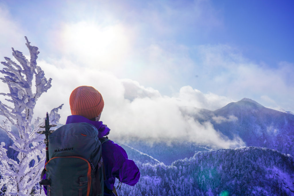 厳冬期・天狗岳・北八ヶ岳の山々