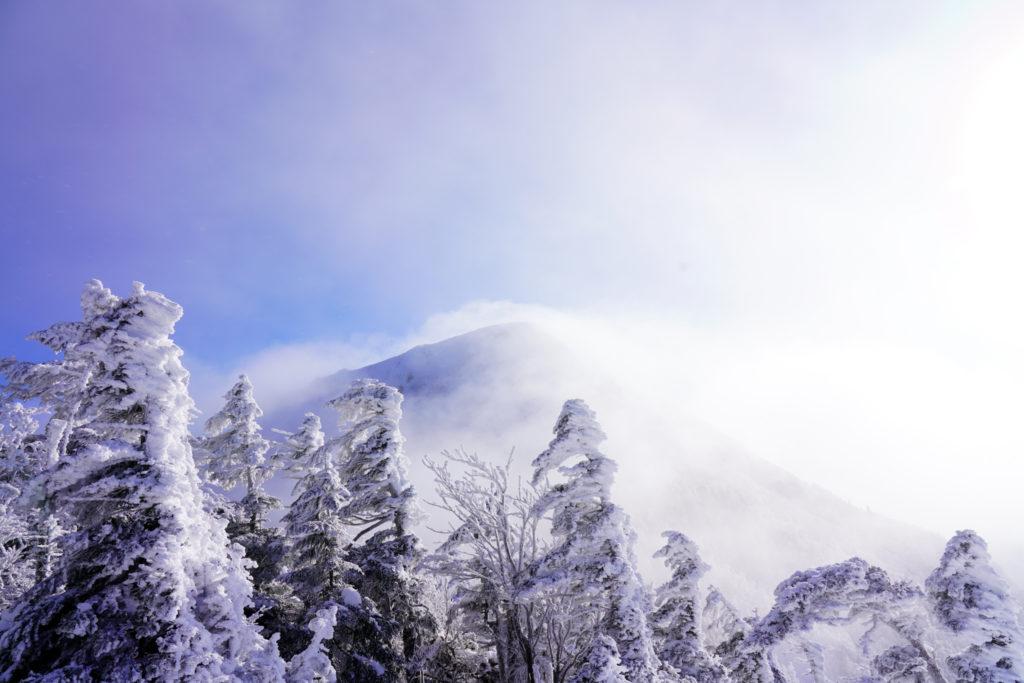 厳冬期・天狗岳・第二展望台からの西天狗