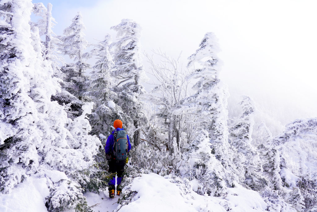厳冬期・天狗岳・白い世界