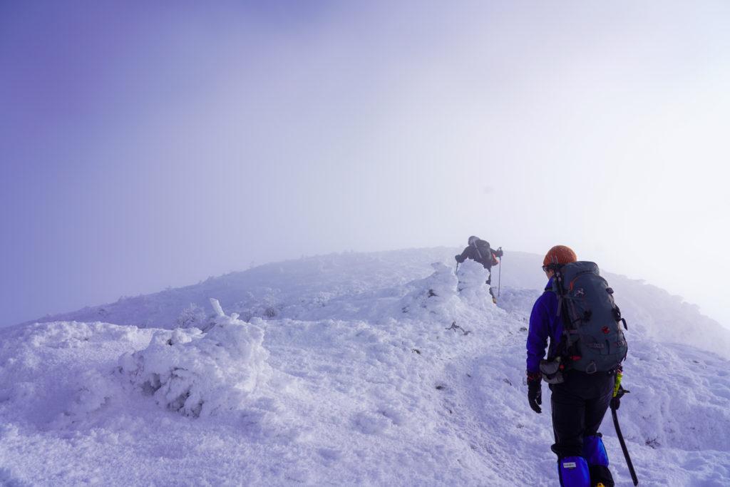 厳冬期・天狗岳・続・真っ白な世界