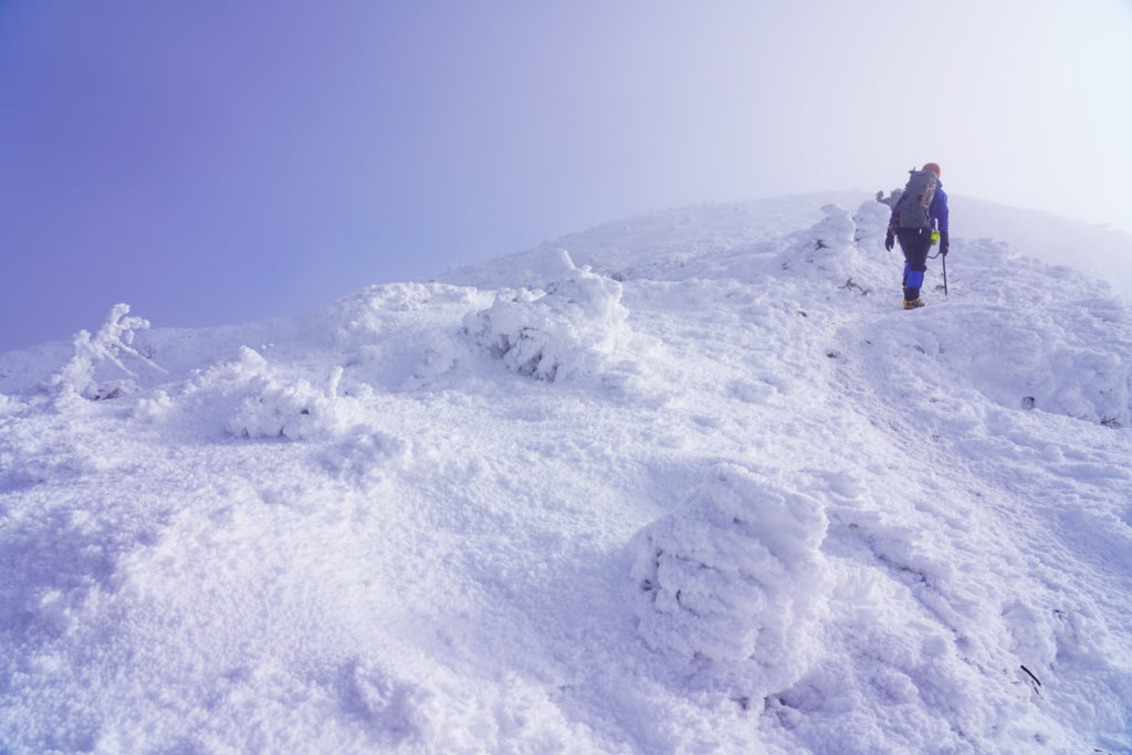 厳冬期・天狗岳・続続・真っ白な世界