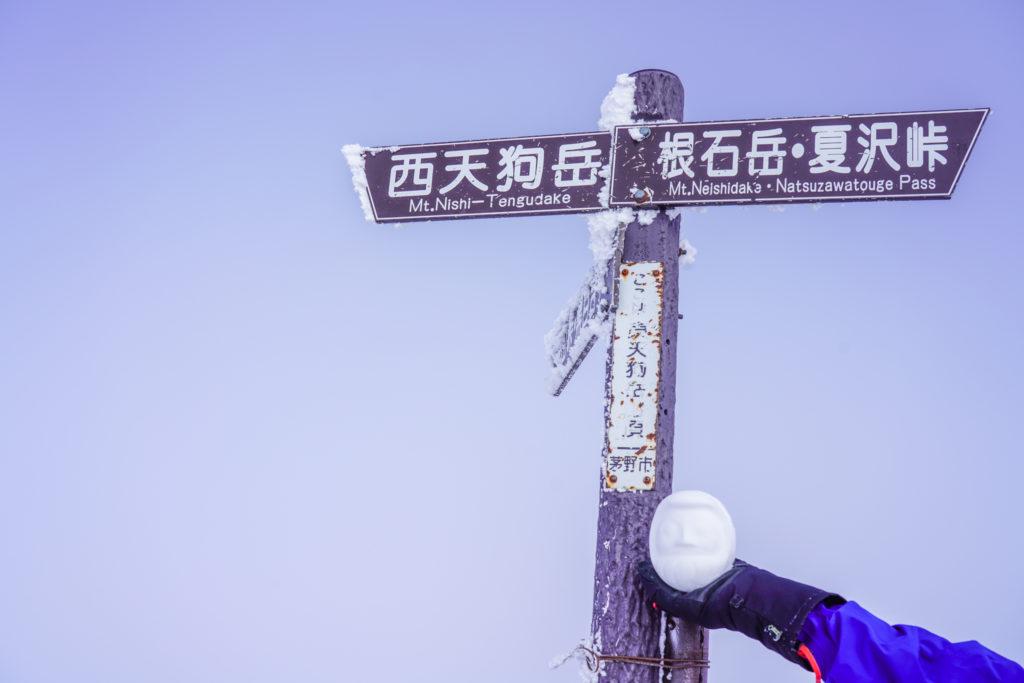 厳冬期・天狗岳・東天狗岳山頂