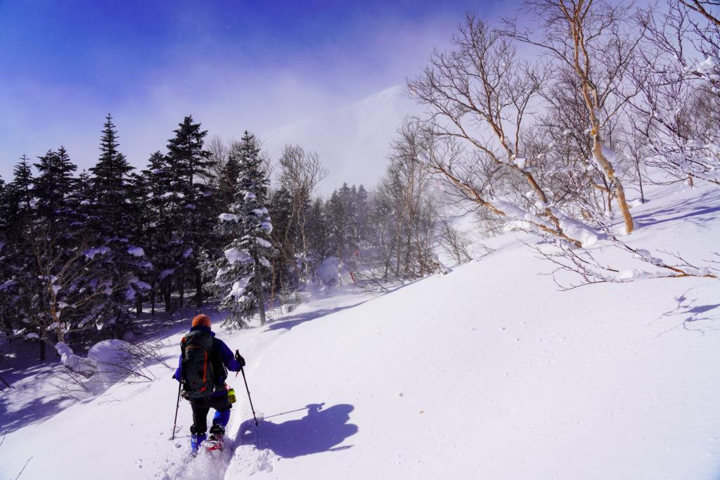 厳冬期・乗鞍岳・モフモフを進む