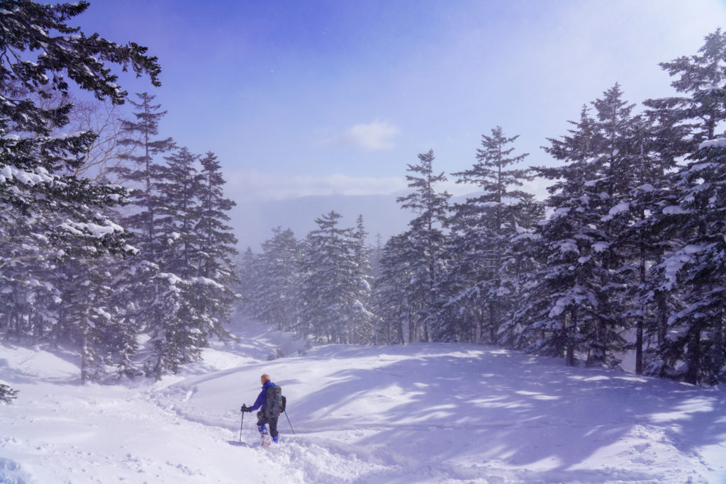 厳冬期・乗鞍岳・空はこんなに青いのに
